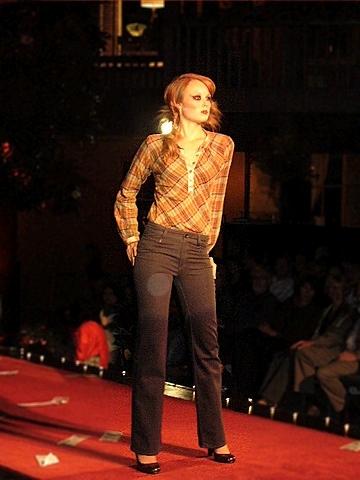 Stewart+Brown Plaid Top, Edun Twilight Jeans